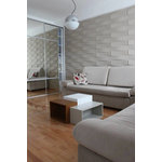 """WallArt - 3D Wall Panels, Vaults, Set of 12 - Textured Wall Coverings that will transform your interior walls with depth and create an amazing looking feature wall. The wall panels are made of natural plant fiber and are flexible, lightweight, paintable and easy to install. All our wall panels are sold in the natural off white color and therefore are paintable. Size is 19.68""""x19.68"""", 12 panels / box. Give your focal wall the Wow factor with our 3D wall panels."""