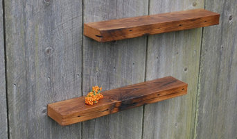 Two Chestnut Floating Shelves, Vintage Reclaimed Barnwood