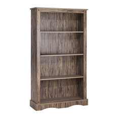 Elegant Home Fashions Simplicity 4 Shelf Bookcase In Wren Maple
