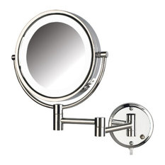 Wall Mounted Lighted Vanity Mirror wall-mounted lighted makeup mirrors | houzz