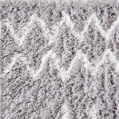 Brikk - Farrin Industrial Tufted Shag Rug, White and Gray, 8'x10' - Area Rugs