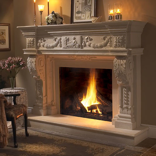 rock fireplace mantel.  Fireplace Mantels Stone