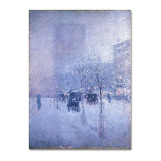 Childe Hassam 'Late Afternoon New York Winter' Canvas Art, 32 x 24