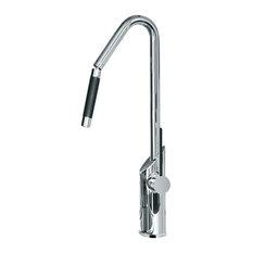 Designer Snake Kitchen Faucet, Chrome