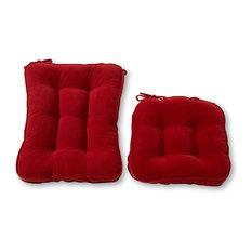 Hyatt Standard Rocking Chair Cushion Set, Scarlet