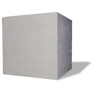 Square Modular Planter, Lead Gray, 36x36x36, Without Drainage Hole