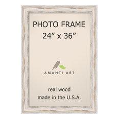 "Picture / Photo Frame 24""x36, Alexandria White wash, Outer Size 29""x41"""