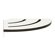 "Lifestyle & Wellness Contour Shower Shelf One-piece White Phenolic w/ 9"" Radius"