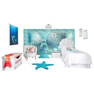Mermazing Complete Mermaid Room, Blind Size 180x180 Cm