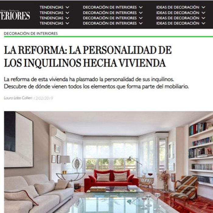Proyecto Arturo Soria en la revista Interiores