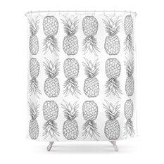 Tooti Fruity Pineapple Shower Curtain