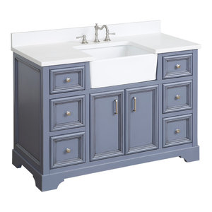 Zelda Bathroom Vanity, Powder Gray, 48