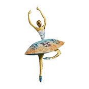 Dancer, Blue And Gold Wall Decor