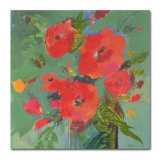 "Sheila Golden 'Crimson Bouquet' Canvas Art, 24""x24"""