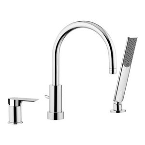 Infinity Chrome Plated Bath Deck Mixer Tap
