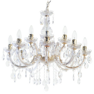 12 Light Marie Therese Chandelier, Gold