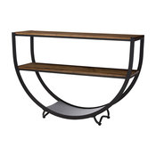 Blakes Rustic Industrial Style Antique Console Table, Black, Brown