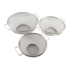 HDS TRADING CORP - Home Basics 3 Piece Mesh Strainer Set - Colanders and Strainers