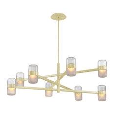 Modern Forms Jazz LED 8-Light Chandelier in Brushed Brass
