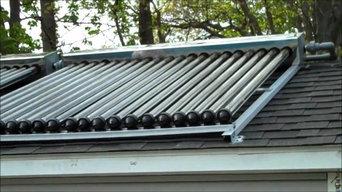 Solar Water Heater Installation.