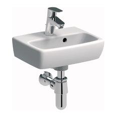 "Nova 14"" Wall Mounted Bathroom Ceramic Sink With Overflow"
