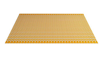 Woop Aberdeen Kvadrato Rug, Yellow and White, 5'x7'