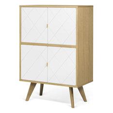 TemaHome Niche Cupboard, Oak/Pure White