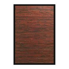 4' x 6' Brick Yard Mahogany Bamboo Rug