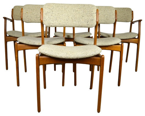 Set Of 6 Danish Teak Chairs By Erik Buck