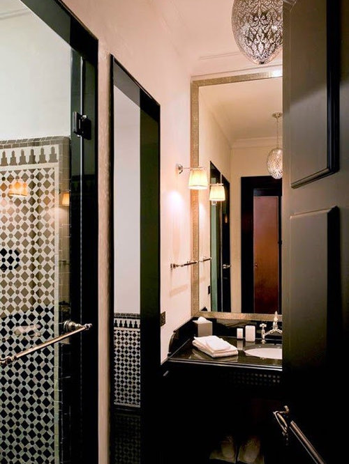 Luxury moroccan lanterns for Mediterranean bathroom lighting