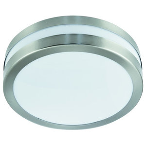 Modern Outdoor Exterior Porch IP44 Bulkhead Light, Stainless Steel