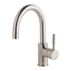 Dia Single-Handle Single Hole Bar Faucet, Satin Nickel, 1.5 gpm