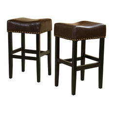 gdfstudio chantal stools set of 2 brown bar height bar stools