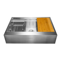 "AKDY 30""x20""x9"" Apron Farmhouse Handmade Stainless Steel Kitchen Sink"