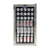 Whynter Beverage Refrigerator, Stainless Steel With Internal Fan