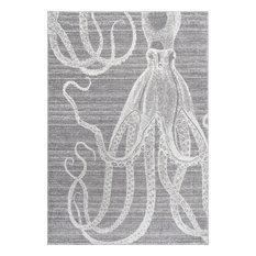 Novelty Octopus, Gray, 9'x12'