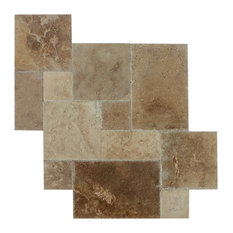Volcano Travertine Tile Antique Pattern Brushed and Chiseled