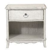Beachcomber 1-Drawer Nightstand, Driftwood White
