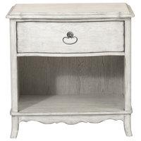 Beachcomber 1-Drawer Nightstand, Driftwood White