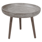 Brother Side Table, Cement & Natural