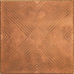 "Decorative Ceiling Tiles - 20""x20"" Hidden Treasure, Styrofoam Ceiling Tile, Antique Copper - Goes Over Popcorn And Most Ceiling Surfaces, Styrofoam, 20x20 (2.7 sqft), Adds Insulation, Easy Install, Light Weight, No Expensive Tools Needed, Paintable With Any Water-Based Paint"