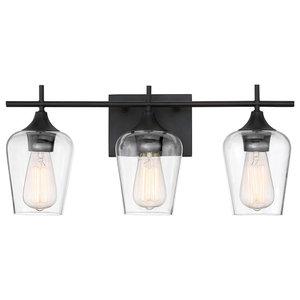 "Bathroom Vanity 3-Light With English Bronze Incandescent Bulb 21"" 300W"