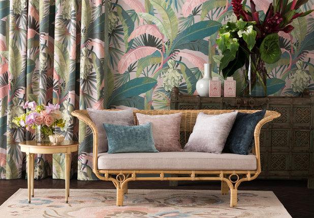 Тропический  by Flashback Fabric & Wallpaper