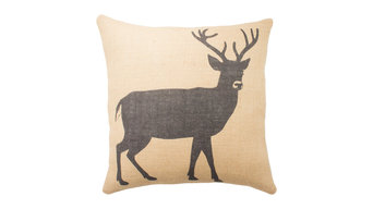 Deer Burlap Pillow