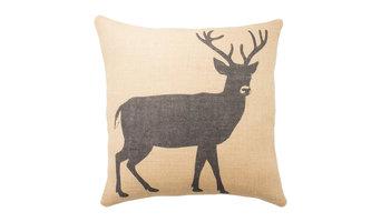 Deer Burlap Pillow
