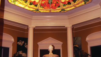 Palm Court - Stained glass dome for a private residence