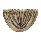 VHC Brands Burlap Natural Rod Pocket Balloon Valance in Tan
