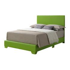 Queen Bed, Green