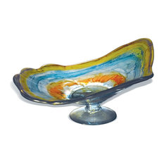 Wild Flower Square Glass Bowl