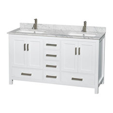 "60"" Transitional Double Bathroom Vanity"